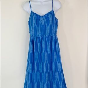 J Crew Blue Tones Maxi Dress